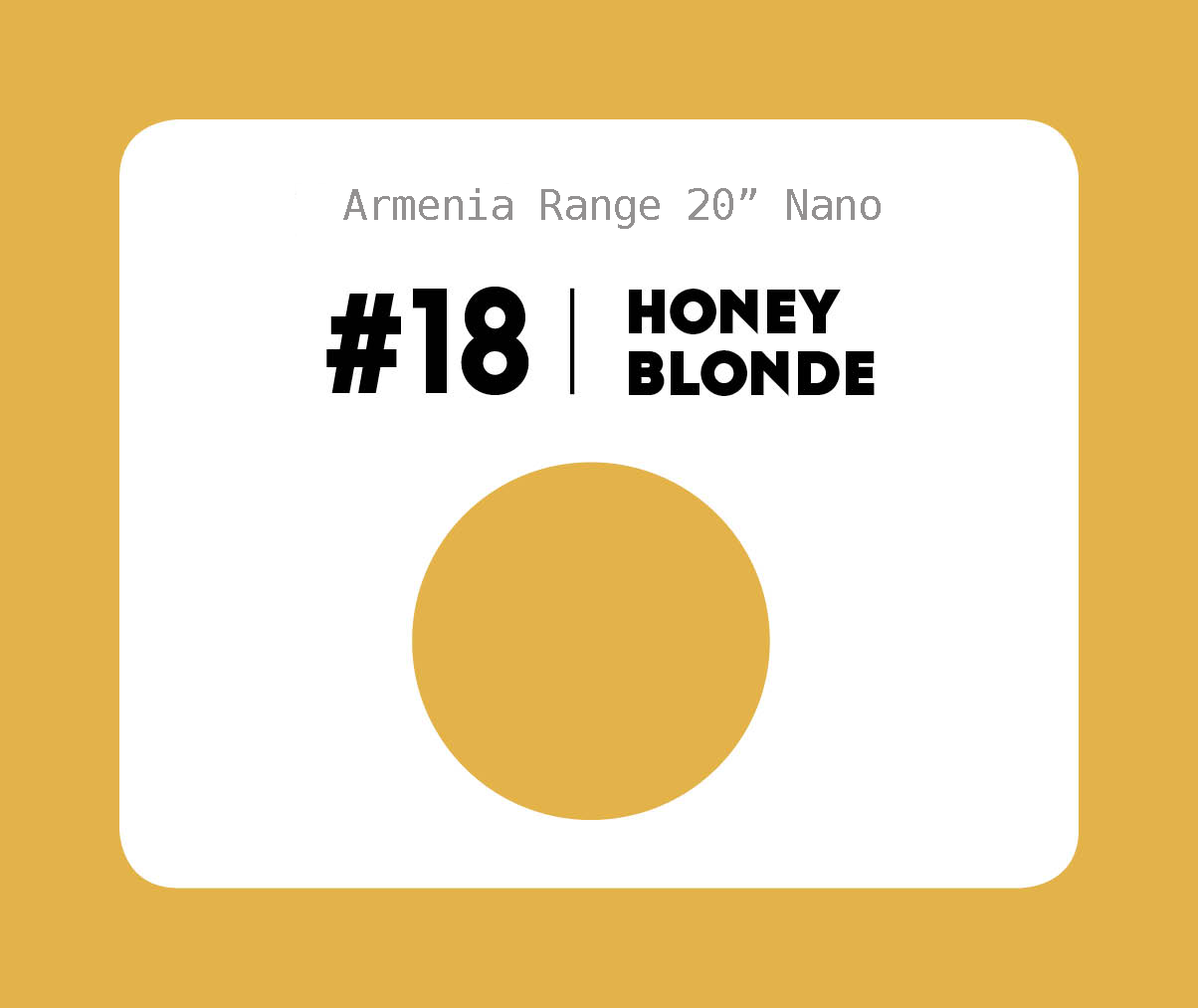 #18 Honey Blonde – 20″- 1 gram – Nano (25 strands per packet)