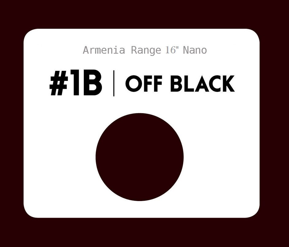 #1b Off black – 16″- 1 gram – Nano (25 strands per packet)