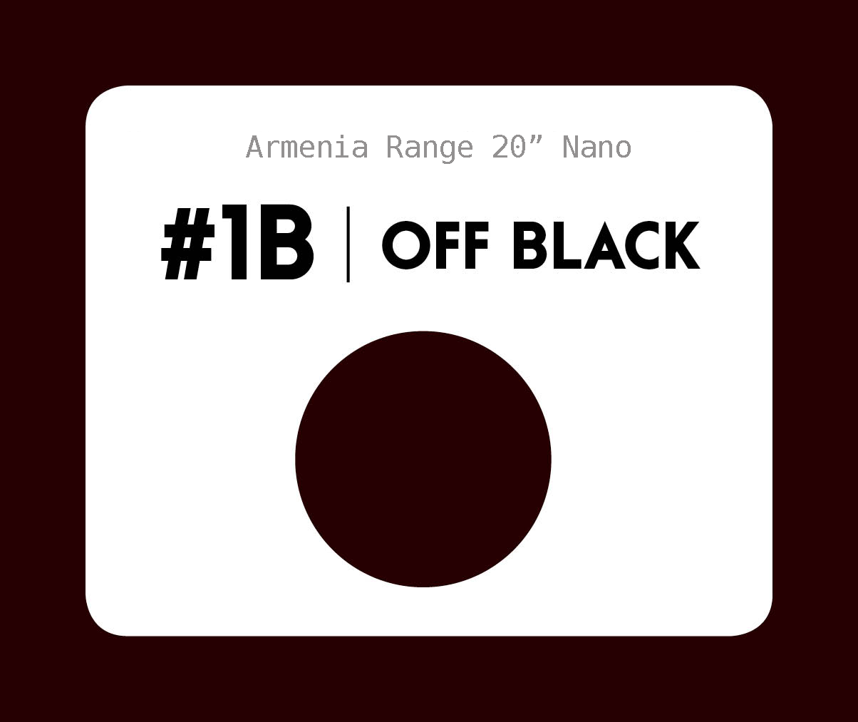 #1b Off black – 20″- 1 gram – Nano (25 strands per packet)