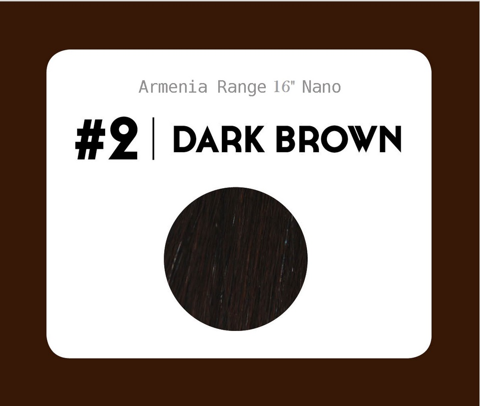 #2 Dark Brown – 16″- 1 gram – Nano (25 strands per packet)