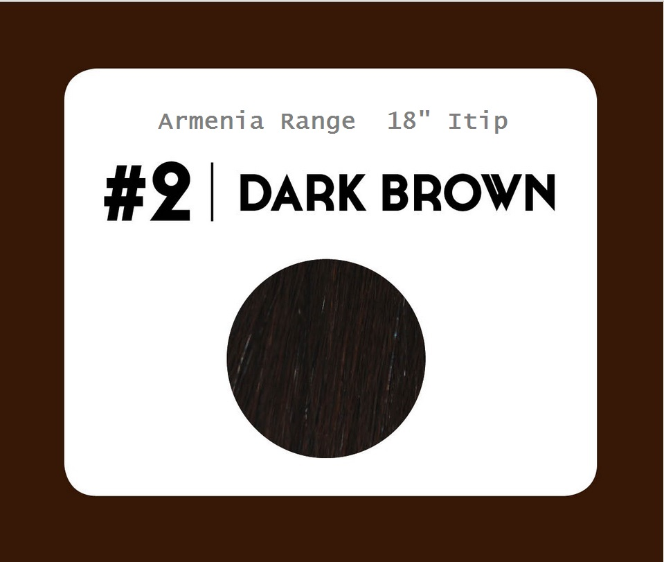#2 Dark Brown – 18″- 1 gram – iTip - Armenia Range