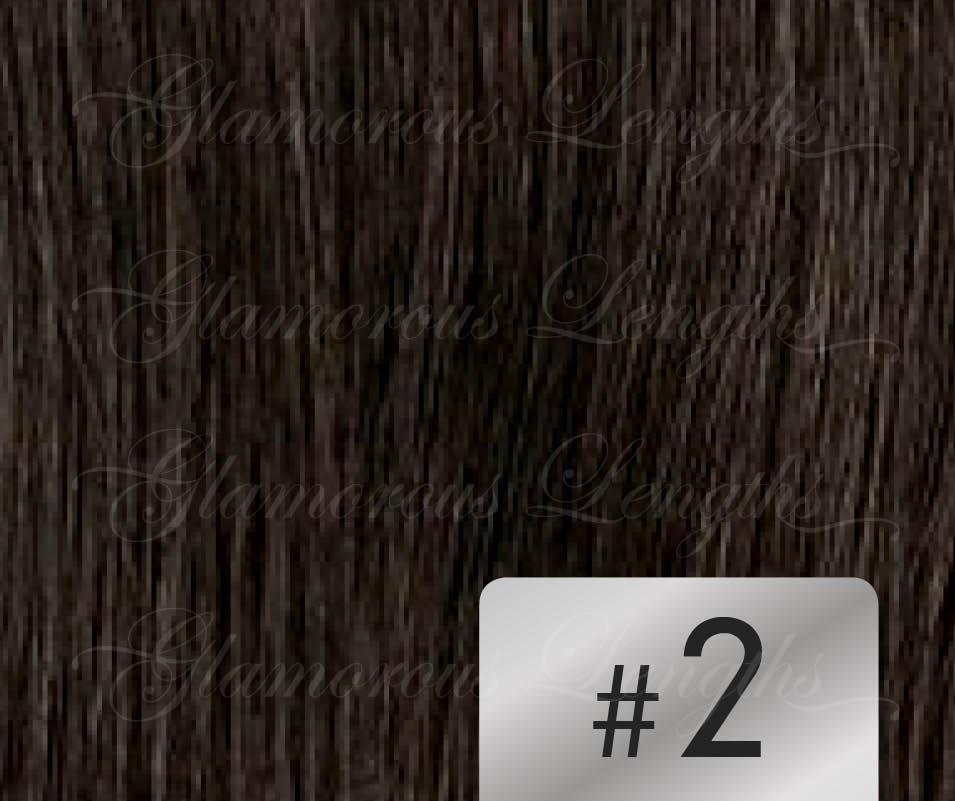 #2 Dark Brown – 18″ – 1 gram – iTip – Athena Range (25 strands per packet)