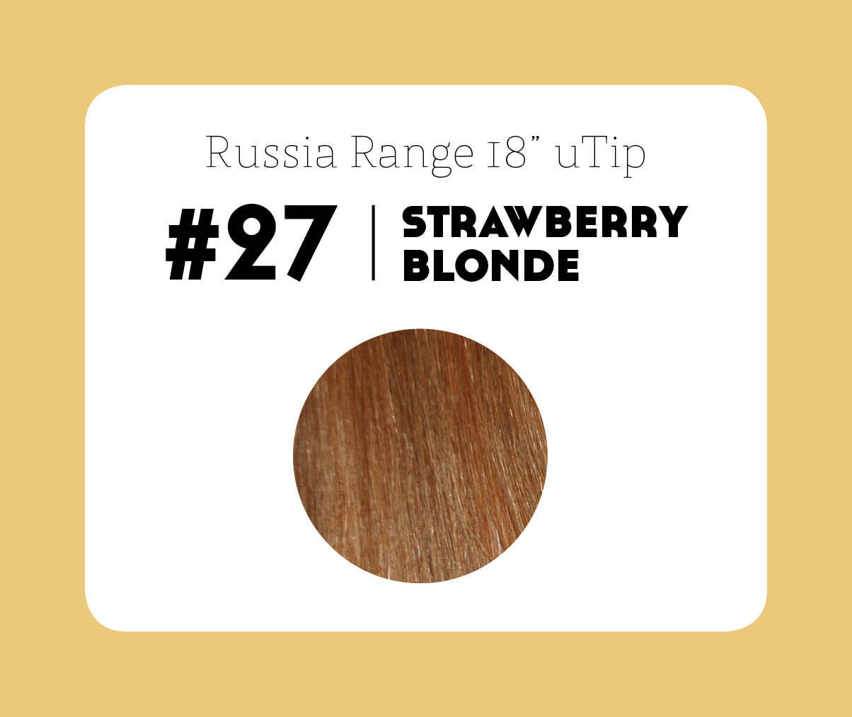 #27 Strawberry blonde - 20