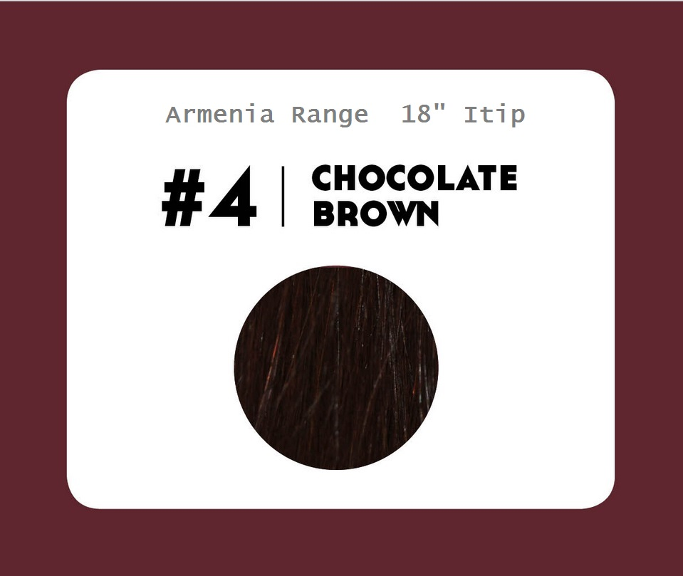 #4 Chocolate Brown – 18″- 1 gram – iTip - Armenia Range