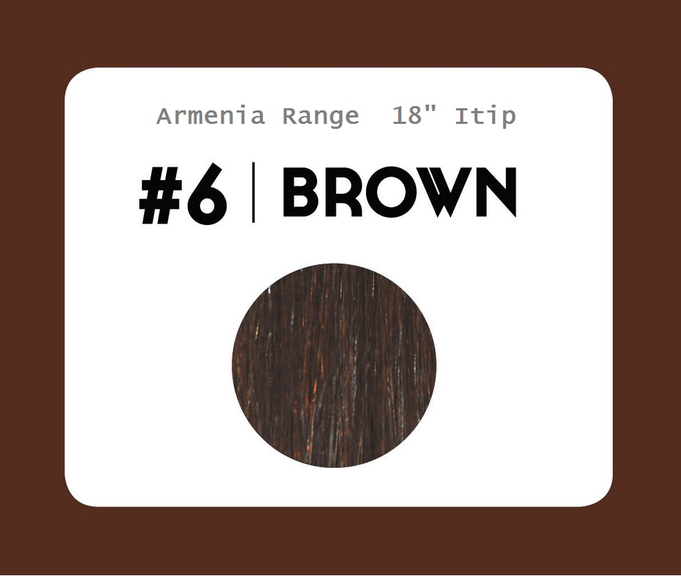 #6 Brown – 18″- 1 gram – iTip - Armenia Range