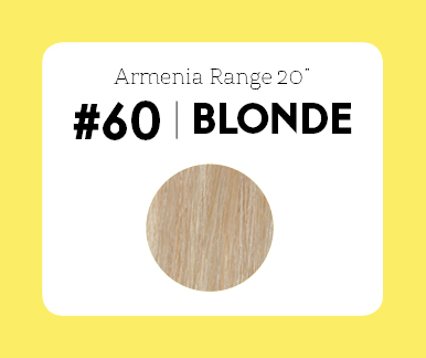 #60 Blonde – 20″- 1 gram – Nano (25 strands per packet)