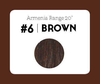 #6 Brown – 20″- 1 gram – Nano (25 strands per packet)