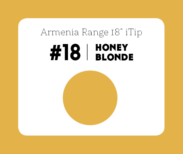 #18 Honey Blonde – 18″- 1 gram – iTip - Armenia Range
