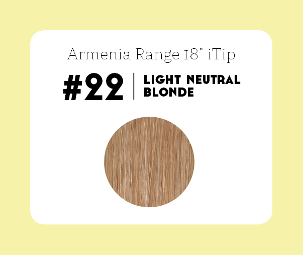 #22 Light Neutral Blonde – 18″- 1 gram – iTip - Armenia Range