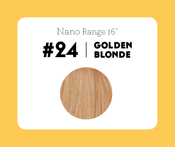 #24 Golden Blonde – 16″ - 1 gram – Nano (25 strands per packet)