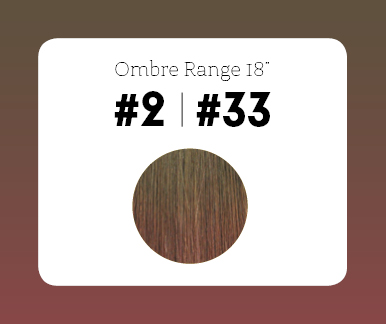 #2T33 Dark Brown/Copper Red – 18