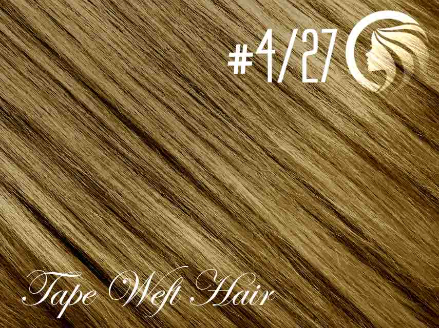 #4/27 Chocolate Brown/Strawberry Blonde – 18″ – 60 gram – 24 Pieces – Athena Tape Weft