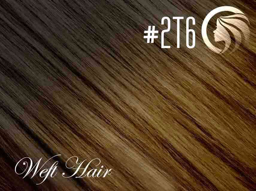 #2T6 Dark Brown/Brown – 18″ – 120 gram – Athena Weft