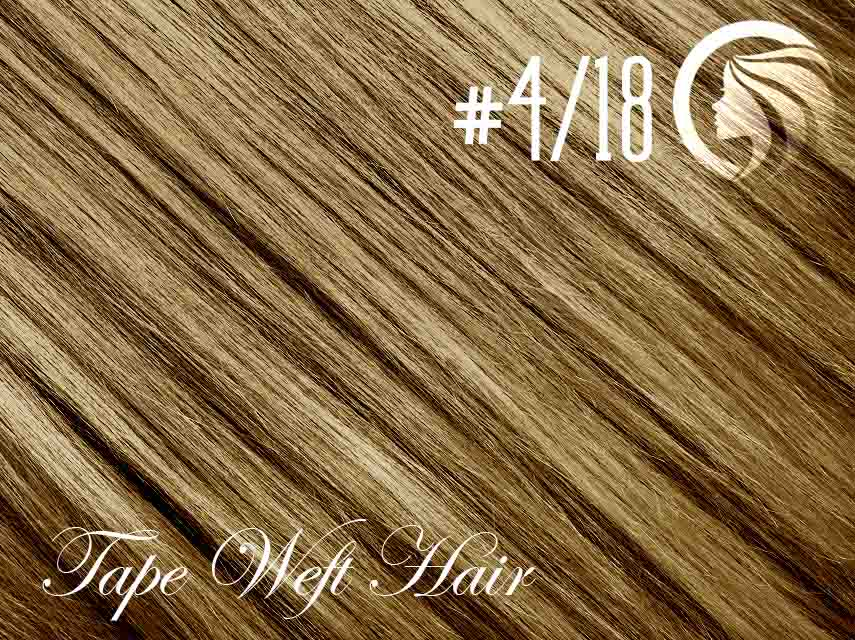 #4/18 Chocolate Brown/Honey Blonde – 18″ – 60 gram – 24 Pieces – Athena Tape Weft