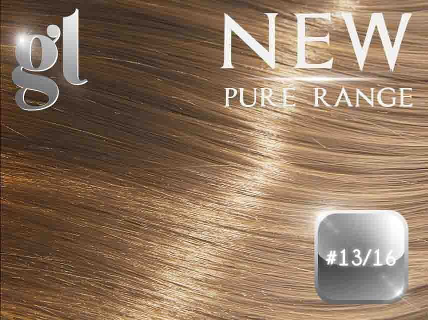 #13/16 Light Golden Brown/Ash Blonde (NEW Nano tip) – 20″ - 0.8 gram – Pure Range Highlight (25 Strands)
