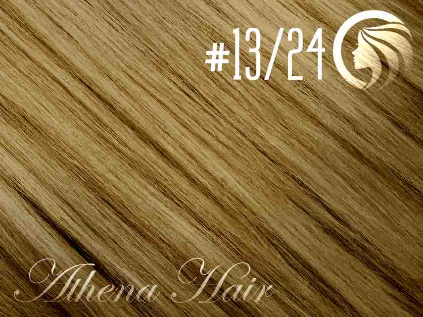 #13/24 Light Golden Brown/Golden Blonde – 18″ – 1 gram – iTip – Athena (25 strands per packet)