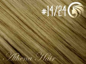 #14/24 Dark Blonde/Golden Blonde – 18″ – 1 gram – uTip – Athena (25 strands per packet)