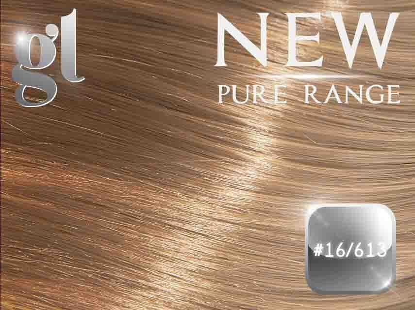 #16/613 Ash Blonde/Blonde (NEW Nano tip) – 20″ - 0.8 gram – Pure Range Highlight (25 Strands)