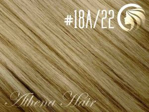#18A/22 Ash Honey Blonde/Light Neutral Blonde – 18″ – 1 gram – uTip – Athena (25 strands per packet)