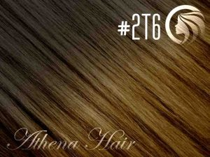 #2T6 Dark Brown/Brown – 18″ – 0.5 gram – uTip – Athena (50 strands per packet)