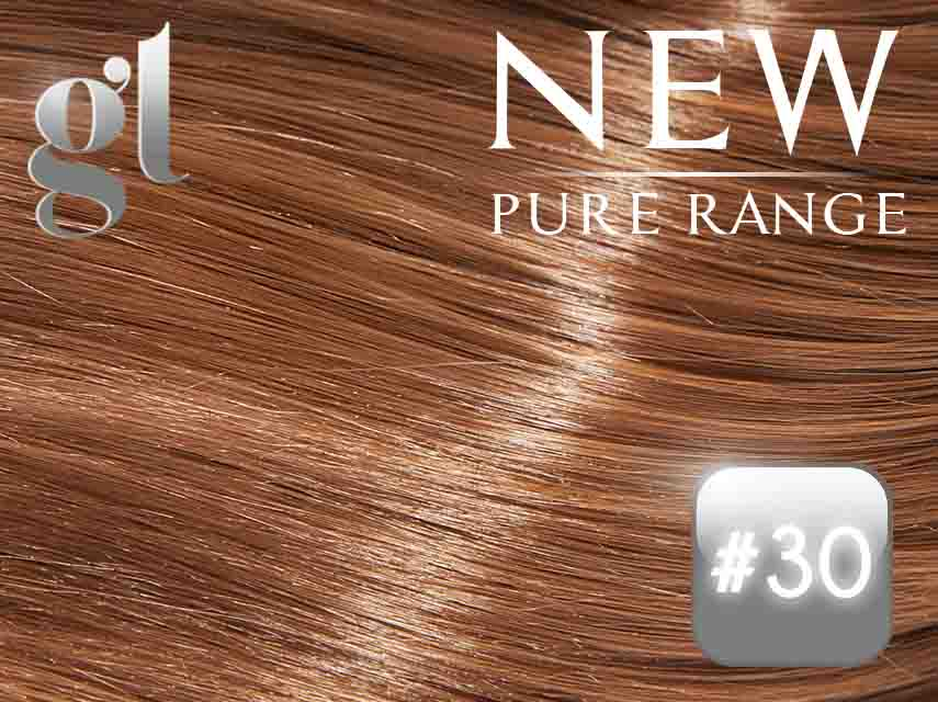 #30 Light Auburn – 20″ - 0.8 gram – Nano Tip - Pure Range (25 Strands)