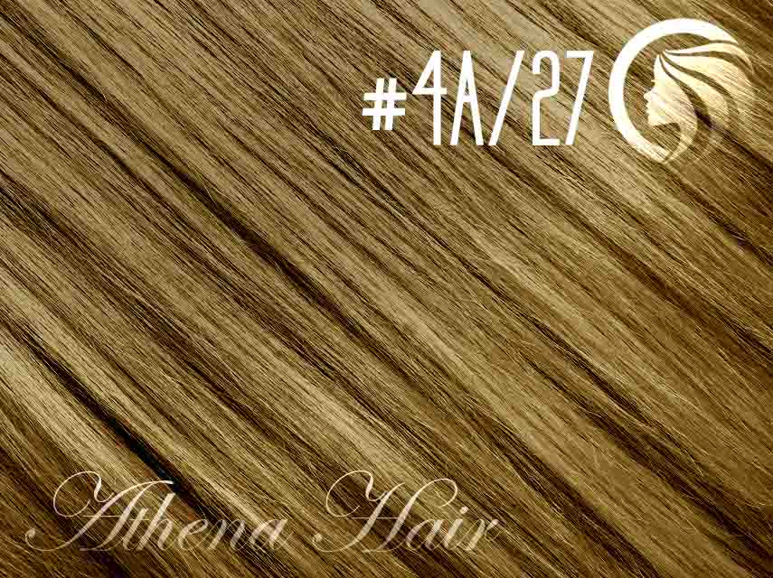 #4A/27 Ash Chocolate Brown/Strawberry Blonde – 18″ – 1 gram – iTip – Athena (25 strands per packet)