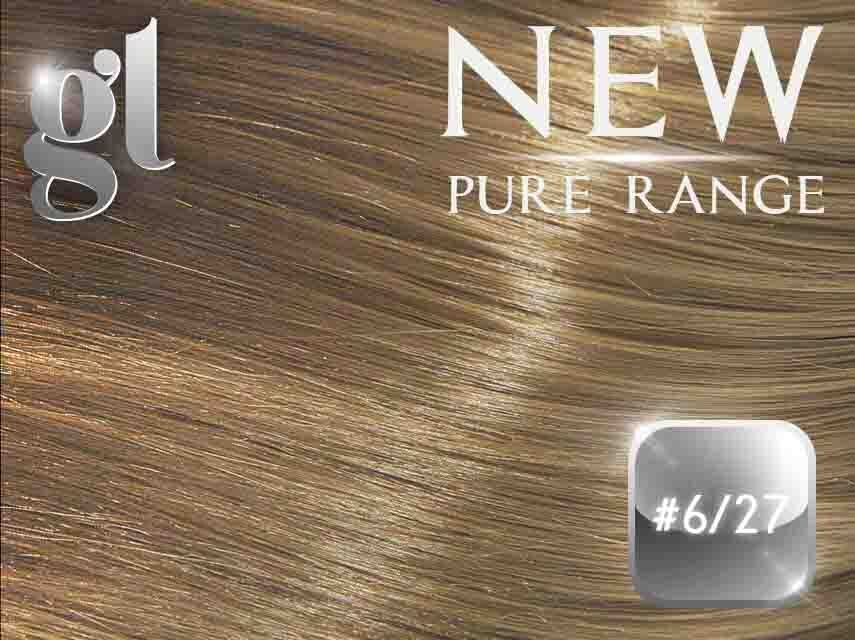 #6/27 Brown/Strawberry Blonde (NEW Nano tip) – 20″ - 0.8 gram – Pure Range Highlight (25 Strands)