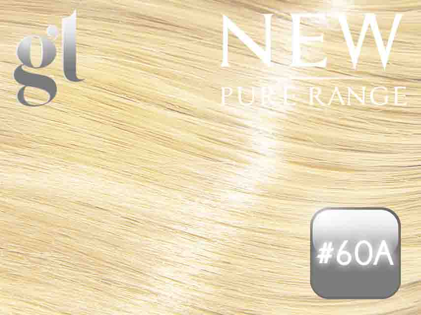 #60A Light Platinum Ash Blonde – 20″ - 0.8 gram – uTip - Pure Range (25 Strands)