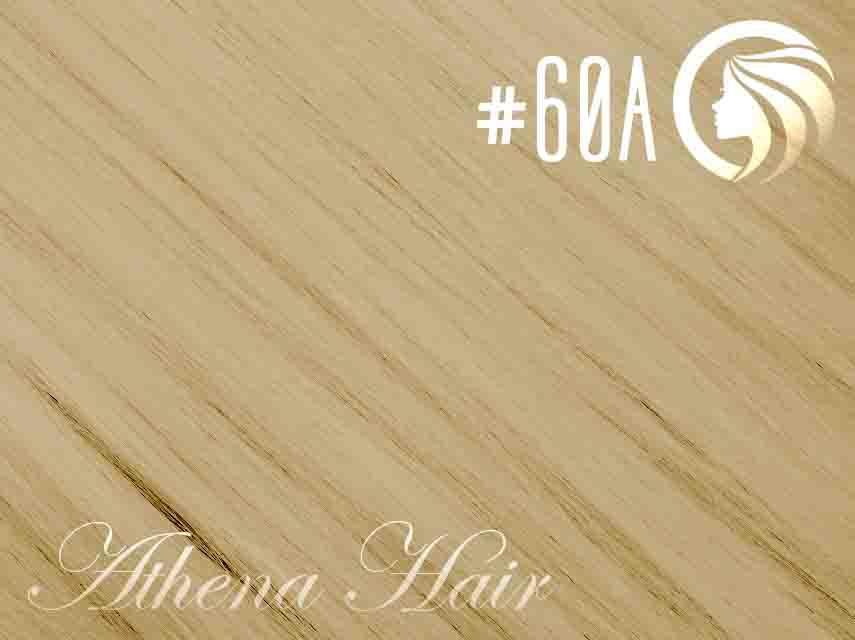 #60A Light Platinum Ash Blonde – 18″ – 1 gram – Nano Tip – Athena (25 strands per packet)