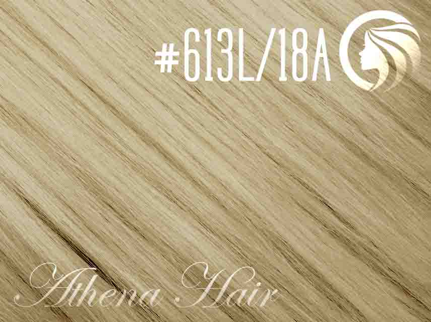 #613L/18A Light Bleach Blonde/Ash Honey Blonde – 18″ – 1 gram – iTip – Athena (25 strands per packet)