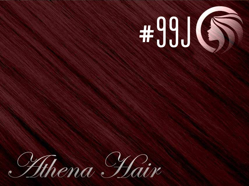 #99J Burgundy – 18″ – 1 gram – Nano Tip - Athena (25 strands per packet)