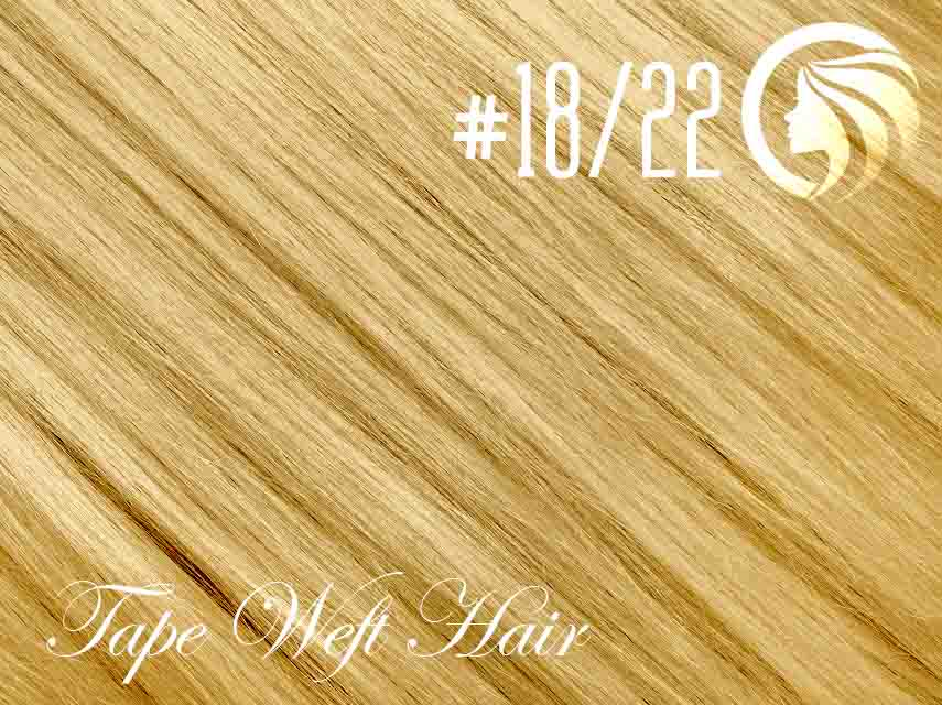 #18/22 Honey Blonde/Light Neutral Blonde – 18″ – 60 gram – 24 Pieces – Athena Tape Weft
