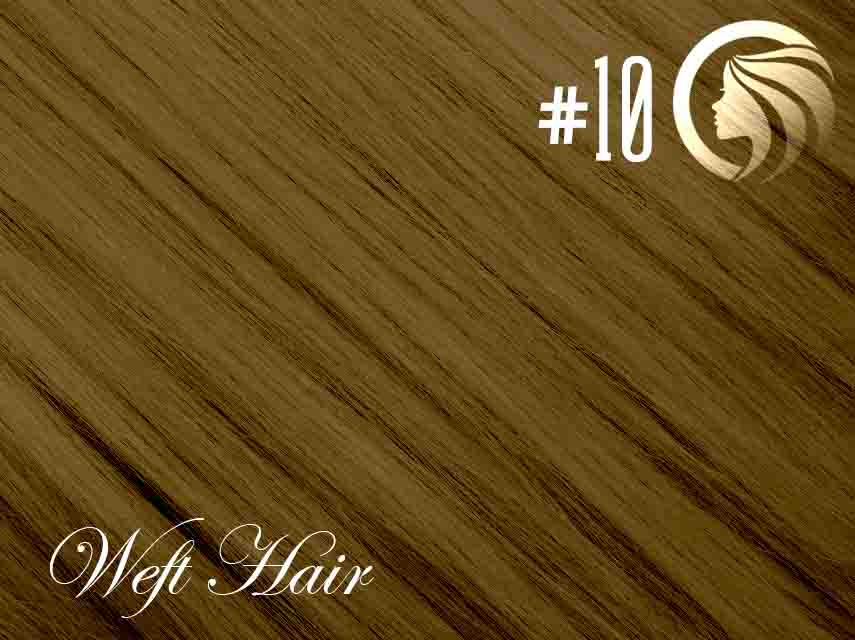 #10 Medium Golden Brown – 18″ – 120 gram – Athena Weft