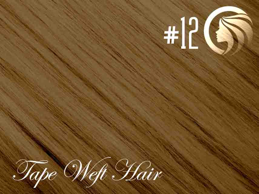 #12 Mixed Blonde/Brown – 18″ – 60 gram – 24 Pieces – Athena Tape Weft