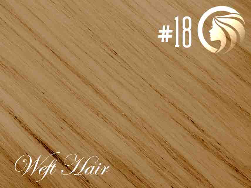 #18 Honey Blonde – 18″ – 120 gram – Athena Weft