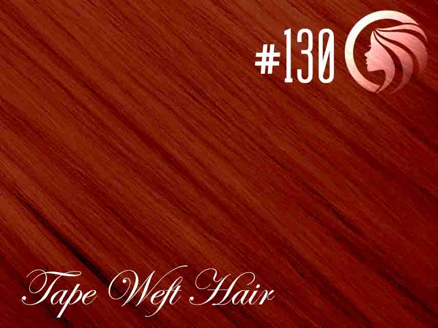 #130 Red – 18″ – 60 gram – 24 Pieces – Athena Tape Weft