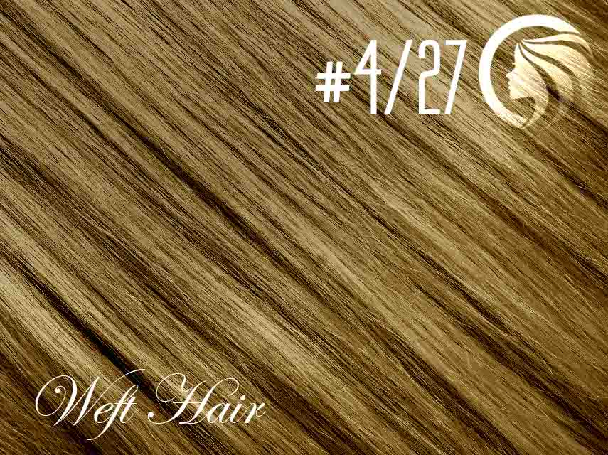 #4/27 Chocolate Brown/Strawberry Blonde – 18″ – 120 gram – Athena Weft