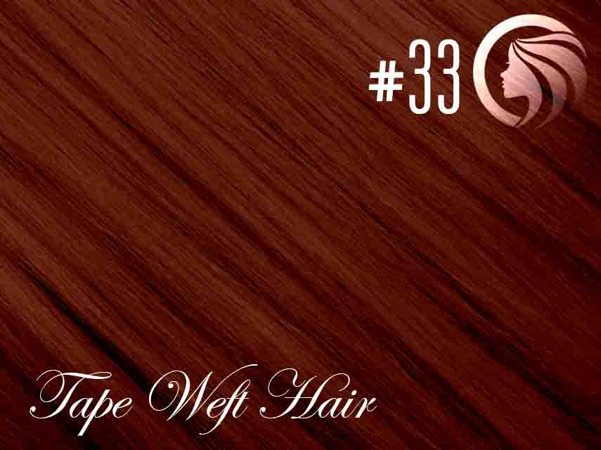 #33 Copper Red – 18″ – 60 gram – 24 Pieces – Athena Tape Weft