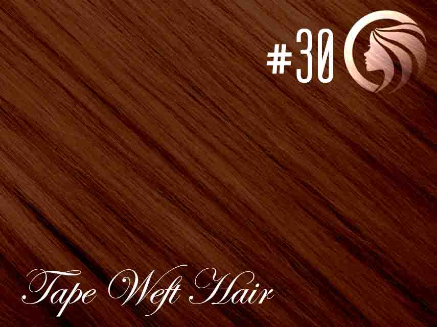 #30 Light Auburn – 18″ – 60 gram – 24 Pieces – Athena Tape Weft