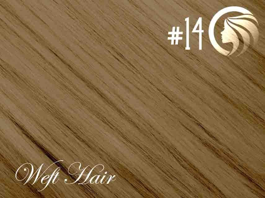 #14 Dark Blonde – 18″ – 120 gram – Athena Weft