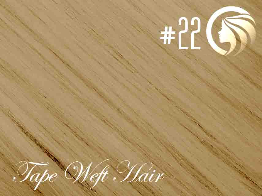 #22 Light Neutral Blonde – 18″ – 60 gram – 24 Pieces – Athena Tape Weft