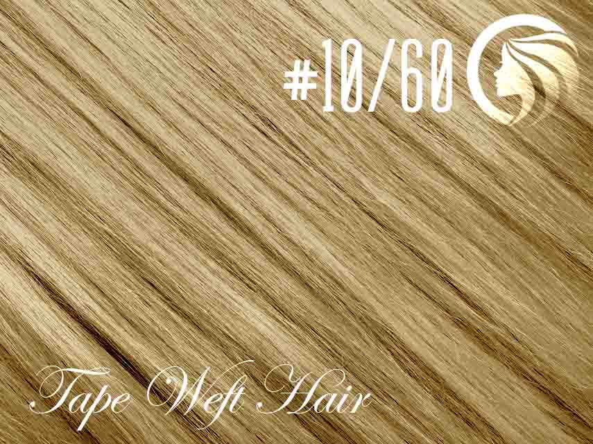 #10/60 Medium Golden Brown/Blonde – 18″ – 60 gram – 24 Pieces – Athena Tape Weft