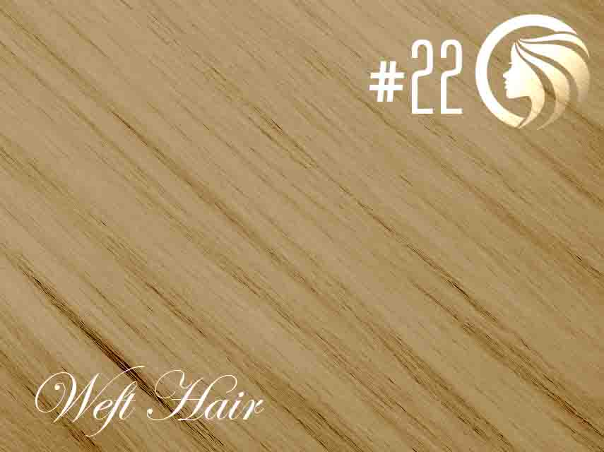 #22 Light Neutral Blonde – 18″ – 120 gram – Athena Weft