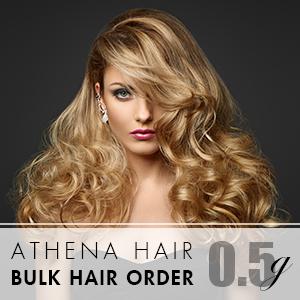 Athena 0.5g 1000 strands – Bulk Hair Order – 18inch (Free Professional detangling hairbrush)