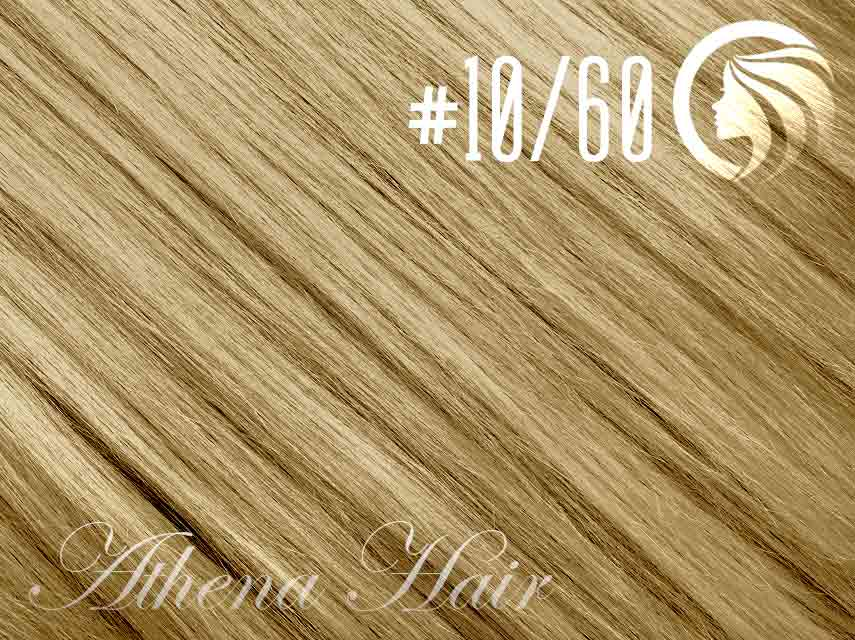 #10/60 Medium Golden Brown/Blonde – 18″ – 1 gram – iTip – Athena (25 strands per packet)