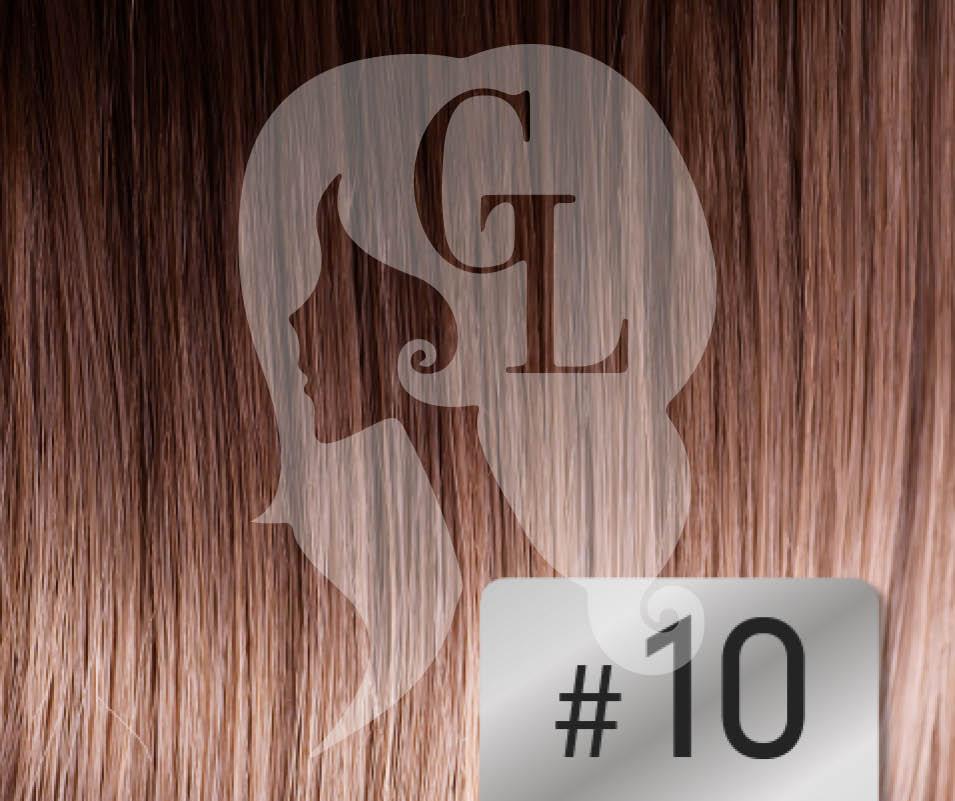 #10 Medium Golden Brown - 16″- 1 gram – Nano (25 strands per packet)