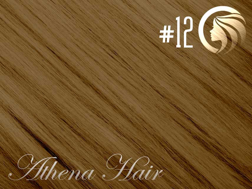 #12 Mixed Blonde/Brown – 18″ – 1 gram – iTip – Athena  (25 strands per packet)