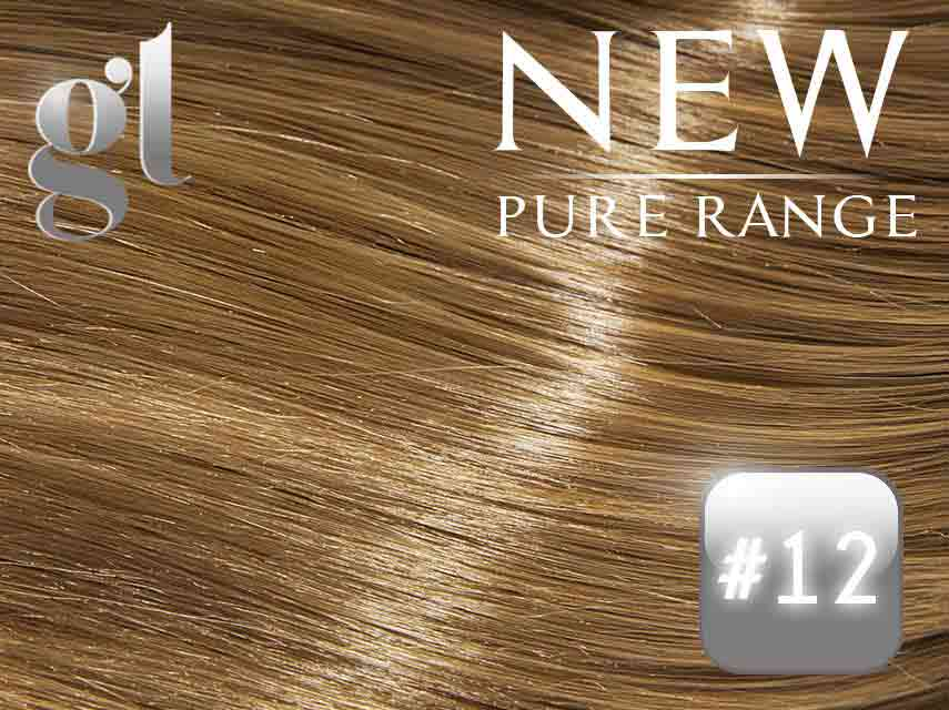 #12 Mixed Blonde/Brown (NEW Nano tip) – 20″ - 0.8 gram – Pure Range (25 Strands)