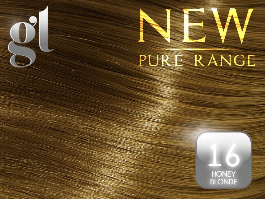 #16 Ash Blonde – 20″ - 0.8 gram – Nano Tip - Pure Range (25 Strands)