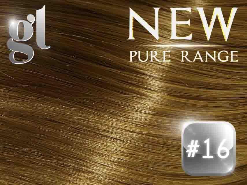 #16 Ash Blonde – 20″ – 0.8 gram – uTip – Pure Range (25 Strands)